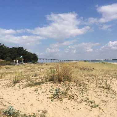 pont de l'île de ré vue sur rivedoux plage et le pont de l'île de ré
